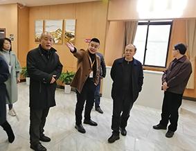 市民政局副局长徐松强、潘鸿斌处长,区民政局贾局一行参观调研百康年养老