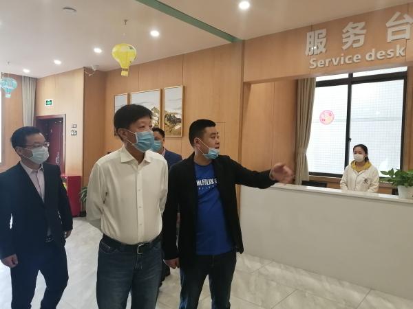 重庆市养老服务协会会长郭小忠2020年首站走访百康年调研工