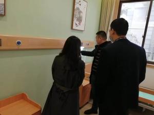 石井坡街道党工委书记邓朝霞一行到访百康年养老参观调研